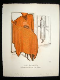 Gazette du Bon Ton by Jacovleff 1920 Art Deco Pochoir. Effet De Glace
